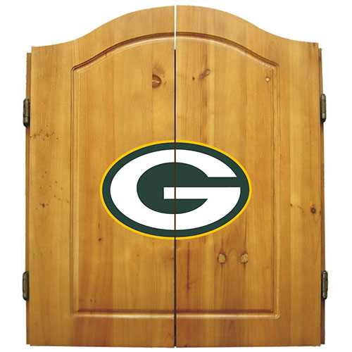 Imperial NFL Green Bay Packers Dart Board Cabinet Set   Classic Style