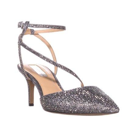 Womens I35 Lenii2 Strappy Rhinestone Evening Sandals,
