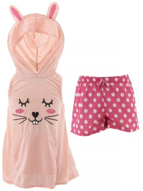 dELiA*s Girls Bunny Coral Hooded Short Pajamas
