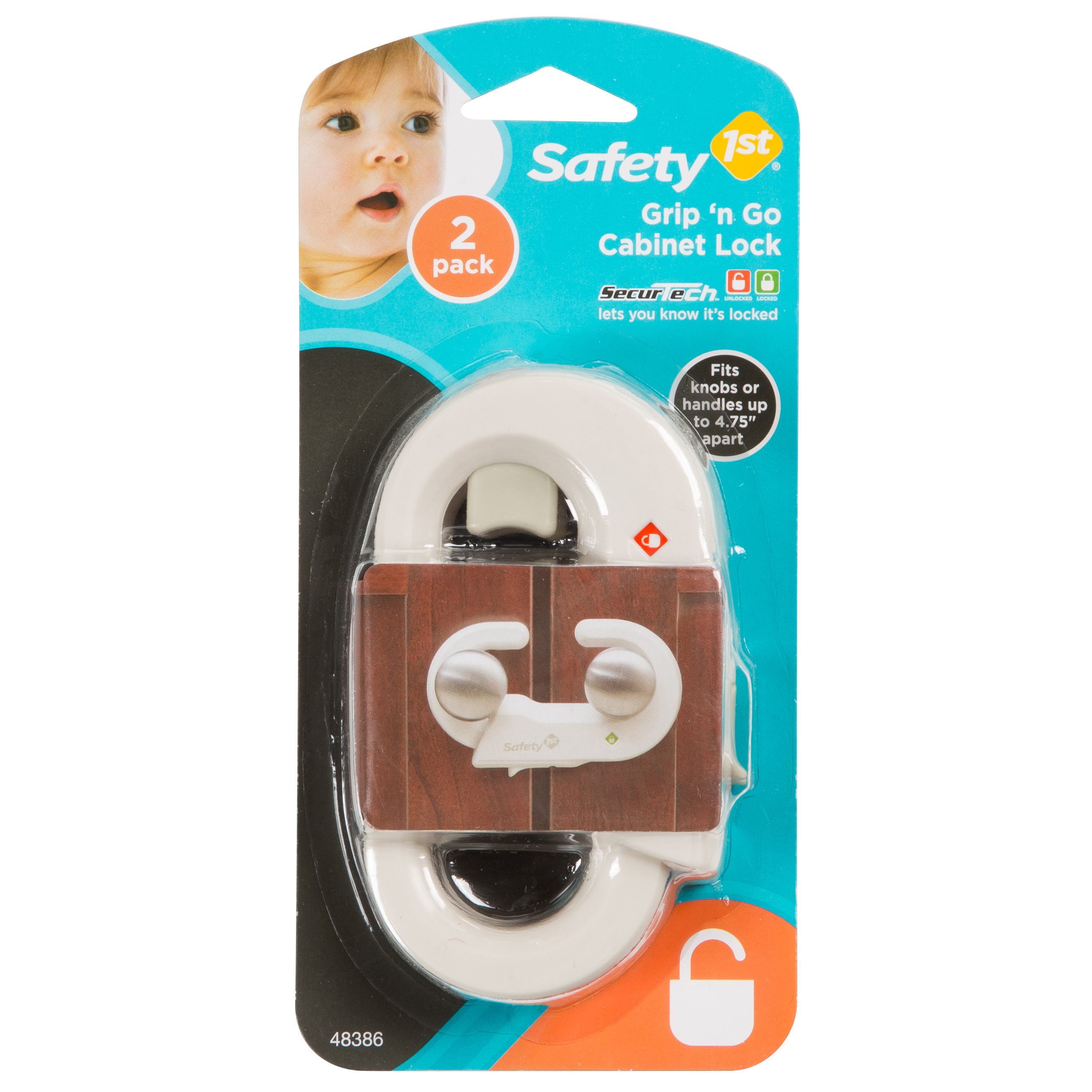 Safety 1st - Grip 'n Go Cabinet Lock 2pk