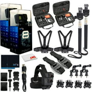 GoPro HERO8 Black Digital Action Camera - With Mega Accessory Kit - All You need Bundle - 2 Pack
