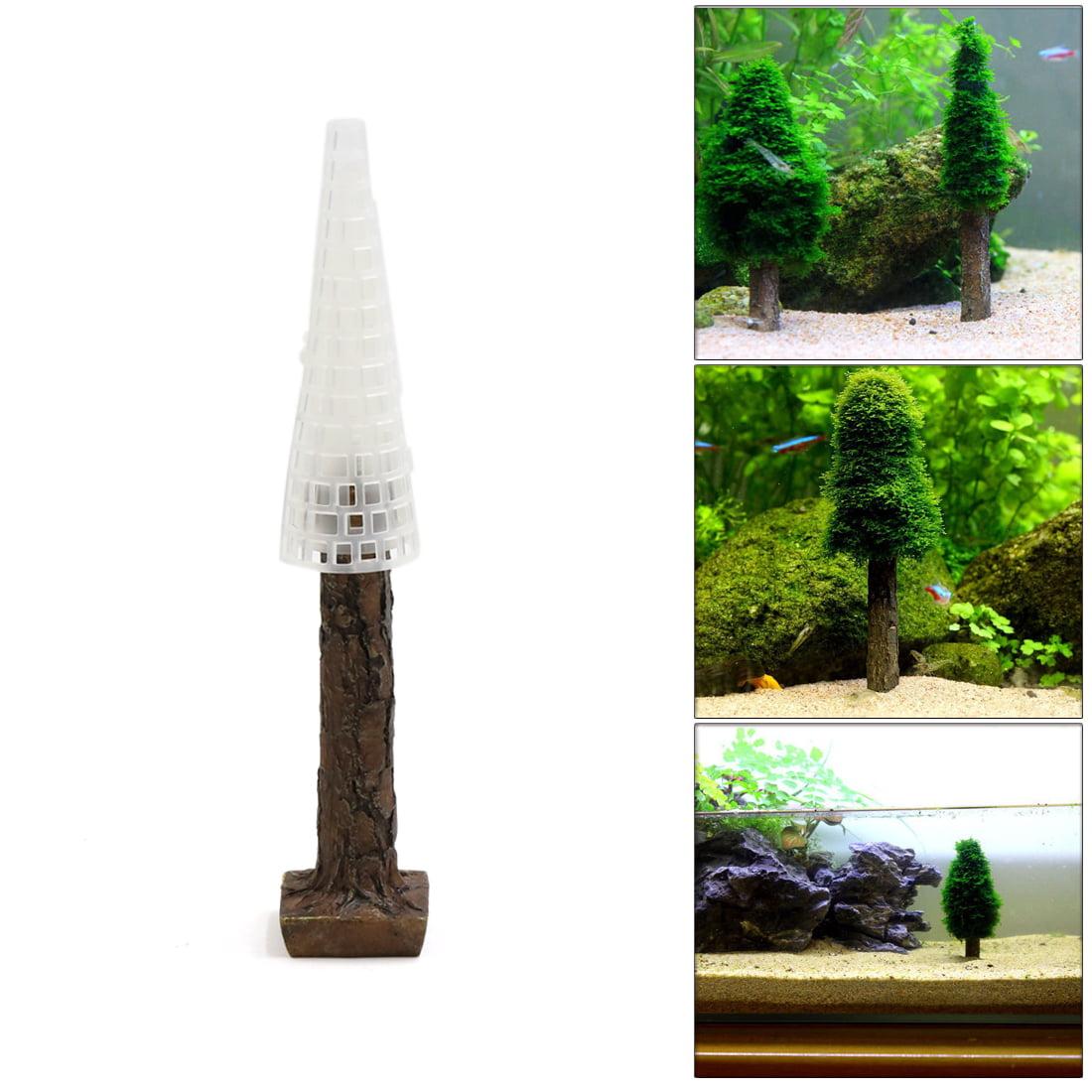 Christmas Tree Moss Aquarium: 1Pcs Plastic Moss Christmas Tree Trunk Aquascape Ornament