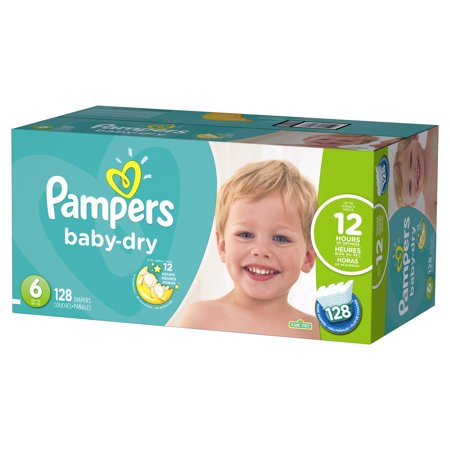 Pampers Baby-Dry Diapers Size 6 128 Count