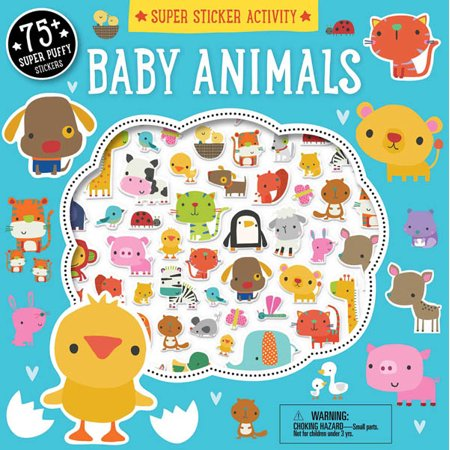 Baby Animals Super Sticker Activity covid 19 (Animal Design Shop Stickers coronavirus)