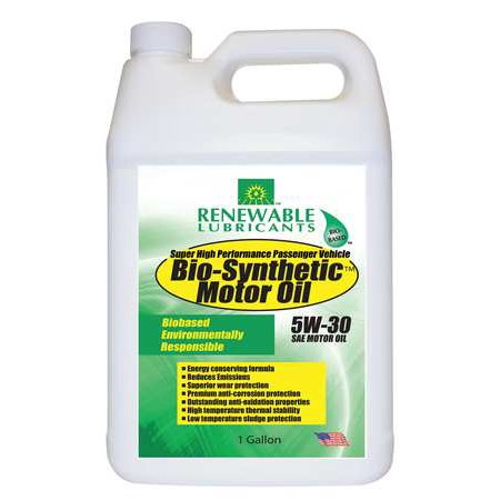 Renewable Lubricants Engine Oil Bio Synthetic 1 Gal  5W30 85123