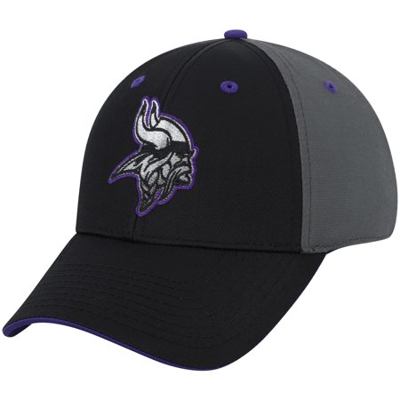 Minnesota Vikings Winter Hat (Men's Black/Charcoal Minnesota Vikings Blackball Gradient Adjustable Hat -)