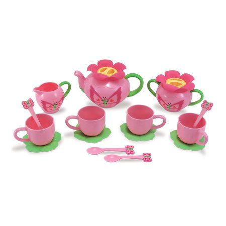 Sunny Patch Bella Butterfly Tea Set  17 Pcs    Play Food Accessories     By Melissa   Doug Ship From Us