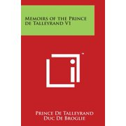 Memoirs of the Prince de Talleyrand V1