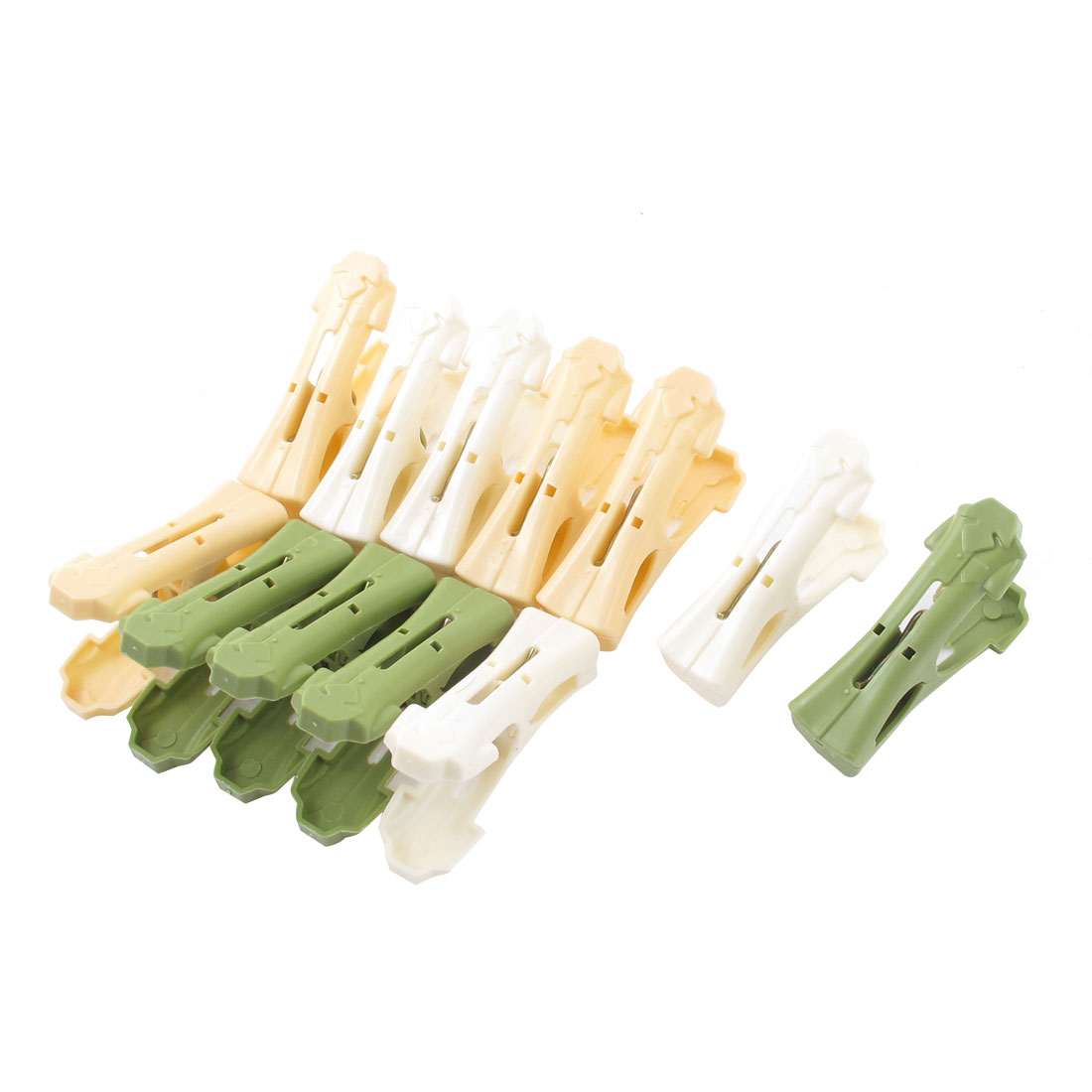 12 Pcs Household Nonslip Multipurpose Clothing Clothespins Clips Multicolour