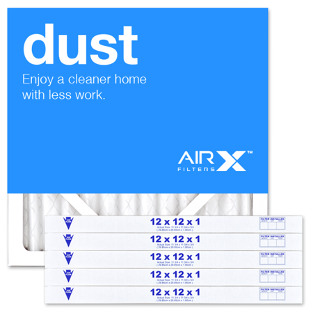 AIRx Filters Dust 12x12x1 Air Filter MERV 8 AC Furnace Pleated Air Filter Replacement Comparable with Filtrete Allergen Defense MPR 800, Clean Living MPR 600, 6-Pack