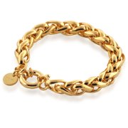 18kt Goldtone Fancy Link Bracelet, 7.75