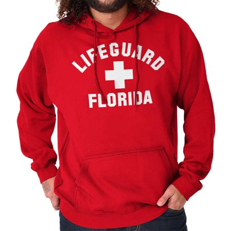 Bench Hoody - Brisco Brands Beach Lifeguard On Duty Florida Pullover Hoodie Sweatshirt