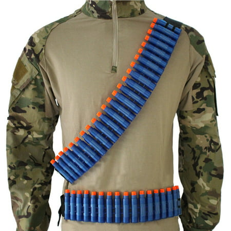 Soft Bullets Belt Shoulder Hand Strap Clip Ammo Bullets Storage for Gun Toy Strap / belt (24 storage shells + 1 adjustment