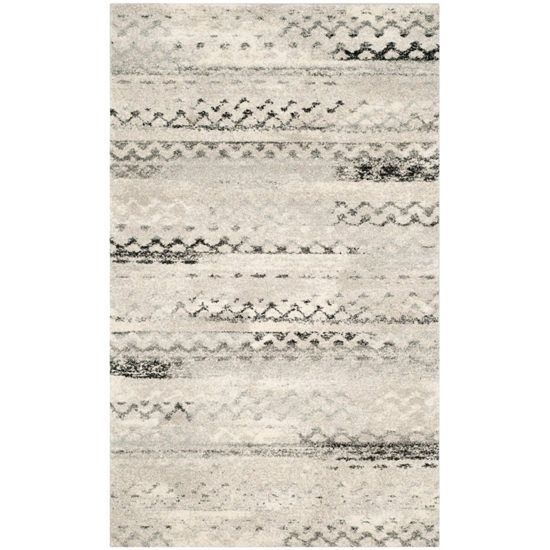 Safavieh Retro 6' Square Power Loomed Rug in Cream and Gray - image 8 of 10