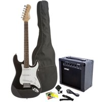 Fever Full Size Electric Guitar with 20-Watts Amplifier, Gig Bag, Clip on Tuner, Cable, Strap and Strings Color Blue