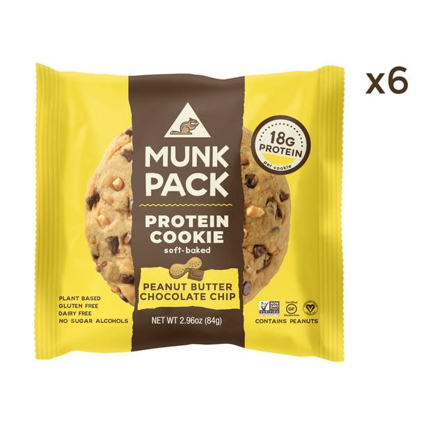 Munk Pack Protein Cookie Peanut Butter Chocolate Chip 2 96 Oz 6 Ct Walmart Com Walmart Com