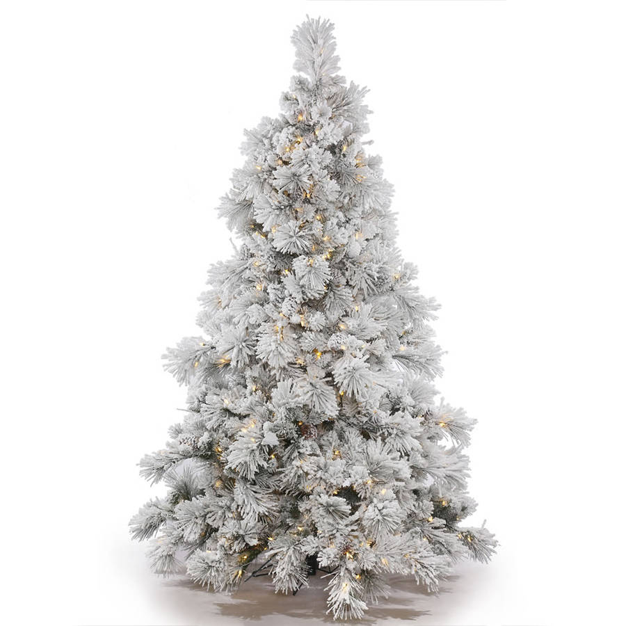 Vickerman Pre Lit 7 5 White M Pencil Pine Artificial Christmas Tree Dura Multicolor Lights