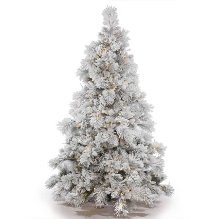 Vickerman Pre Lit 3 5' Flocked Alberta Artificial Christmas Tree  - Vickerman Pre Lit Christmas Trees