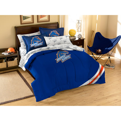 NCAA Applique Bedding Comforter Set with Sheets, Boise State