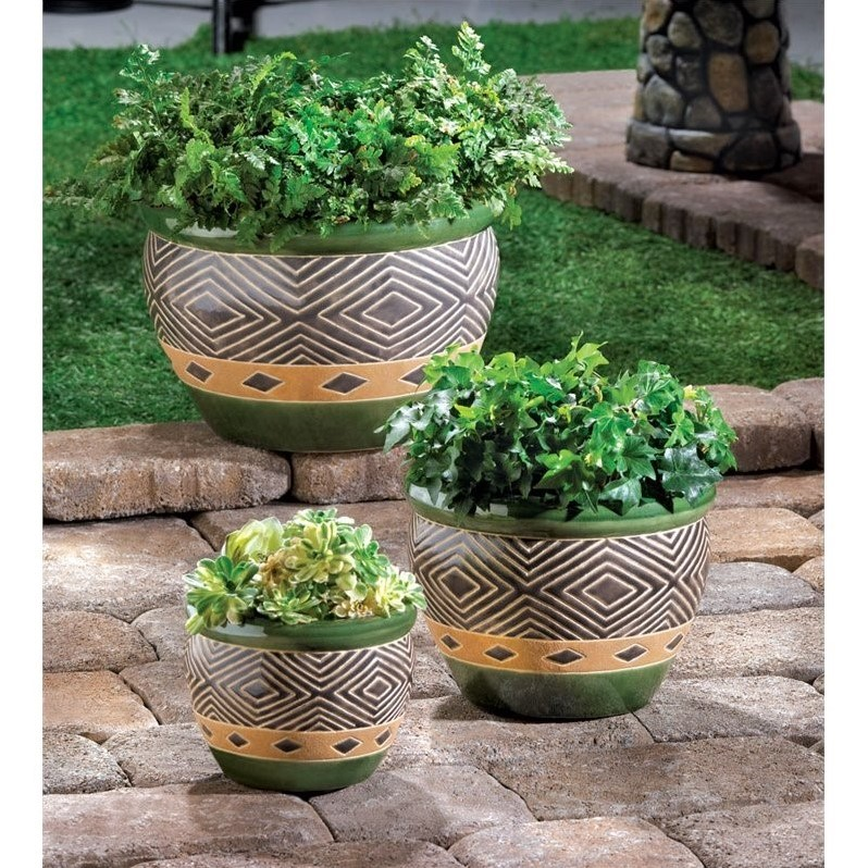 Zingz and Thingz Jade Planters (Set of 3)