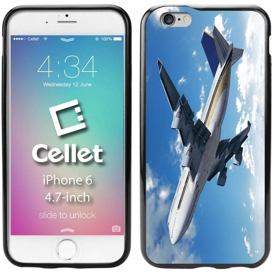 Cellet TPU/PC Proguard Case with Airplane for Apple iPhone 6/6s