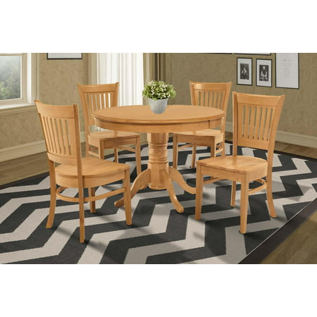 Brookline 5 Piece Small Kitchen Table And Chairs (12 Seater Oak Dining Table And Chairs)