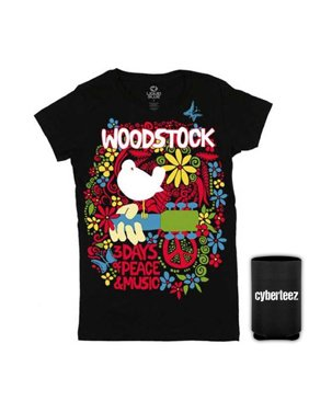 215b3f9dc Product Image Woodstock Festival Poster Women's Aquarian Expo 3 Days Peace Music  T-Shirt + Coolie (