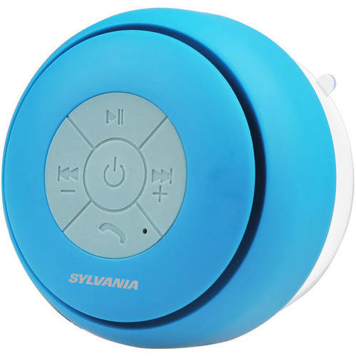 Sylvania Bluetooth Water-Resistant Suction Cup Shower Speaker