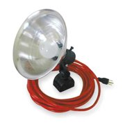 STANDARD PORTABLE STANDARD PORTABLE Incandescent Red Temporary Job Site Light, MLC-200-25-C3