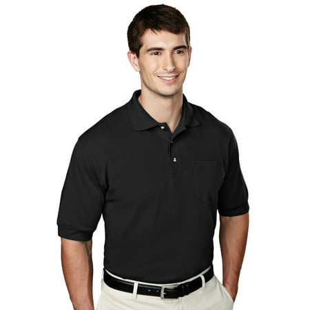 Tri Mountain Image 106 Pique Pocketed Golf Shirt  2X Large  Black