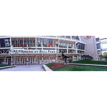 Baseball Stadium Great American Ball Park Cincinnati Ohio Usa Canvas Art   Panoramic Images  6 X 18