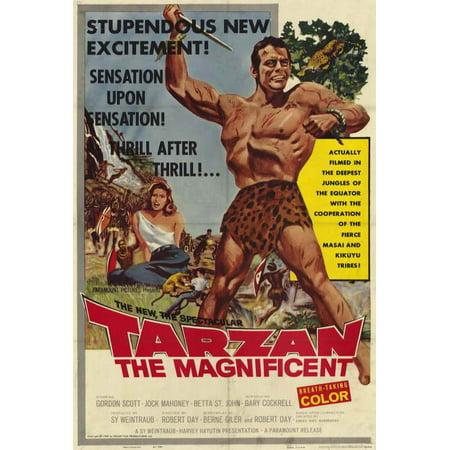Tarzan the Magnificent POSTER Movie (27x40) - Tarzan Halloween