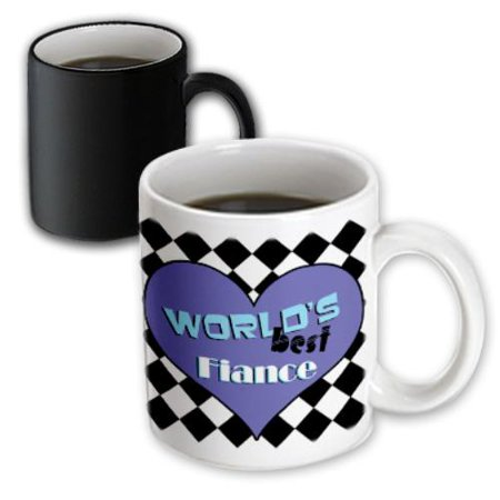 3dRose Worlds Best Fiance, Magic Transforming Mug,