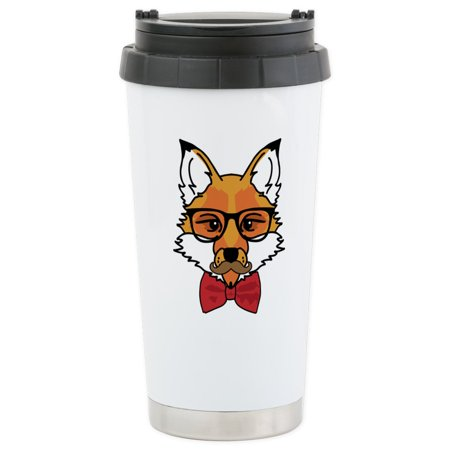 CafePress - Hipster Fox - Stainless Steel Travel Mug, Insulated 16 oz. Coffee Tumbler