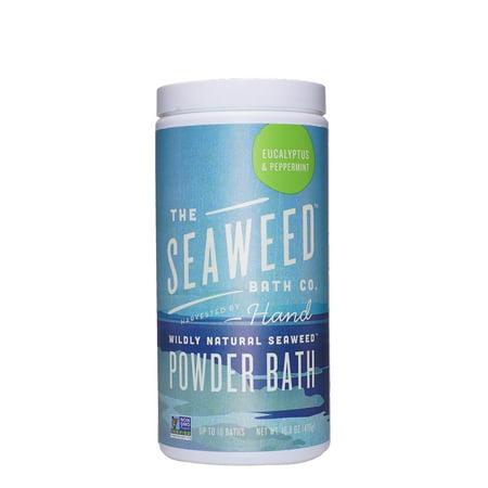The Seaweed Bath Co Bath Powder, Eucalyptus & Peppermint, 16.8 Oz