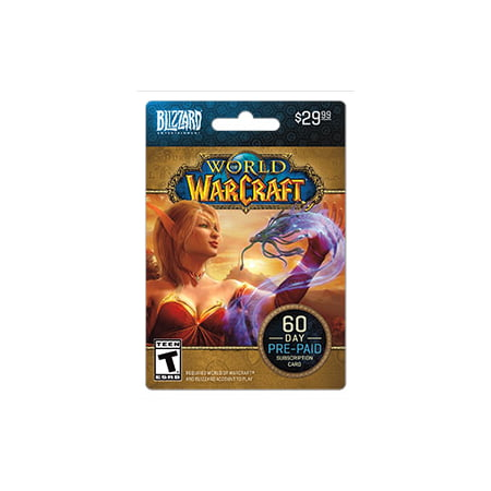 Blizzard Warcraft 60 Day Time Card $29.99 [Digital