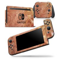 Modern Marble Copper Metallic Mix V3 - Skin Wrap Decal Compatible with the Nintendo Switch JoyCons Only
