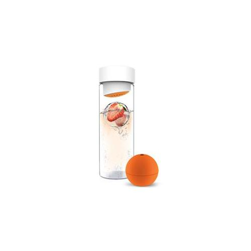 Ad-N-Art SW13-ORANGE Ice Ball Flavour It Water Bottle in Orange