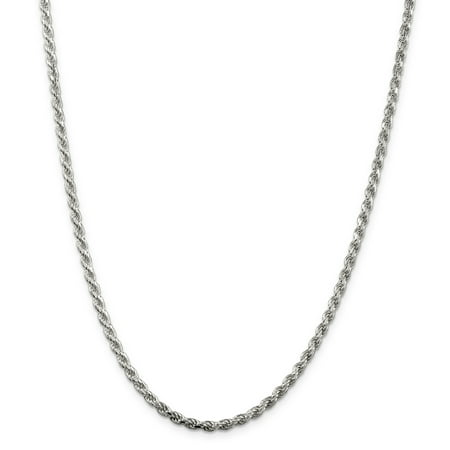 Sterling Silver 3mm Diamond-cut Rope Chain (Weight: 22.33 Grams, Length: 26 Inches) - image 3 of 4