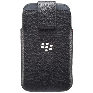 BlackBerry ACC-60088-001 Leather Swivel Holster Case for Blackberry Classic Q20 - Retail Packaging - Black