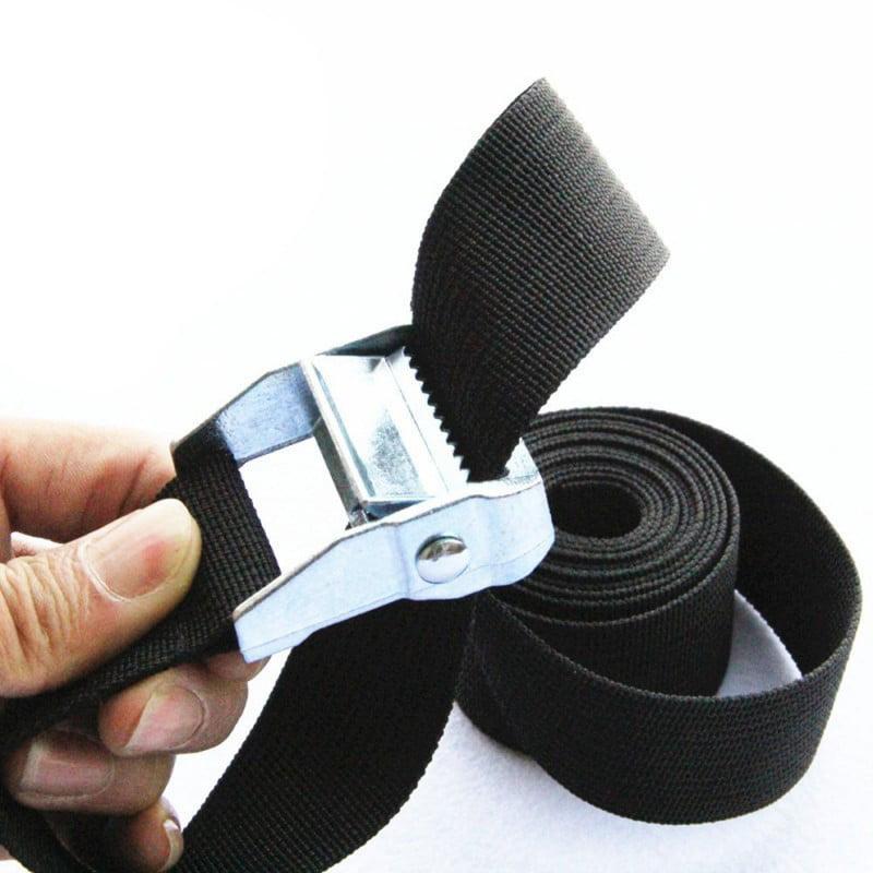 50mm Black 2Pcs Heavy Duty Tensioning Belts Lashing Strap Trailer Tie Down Straps 25