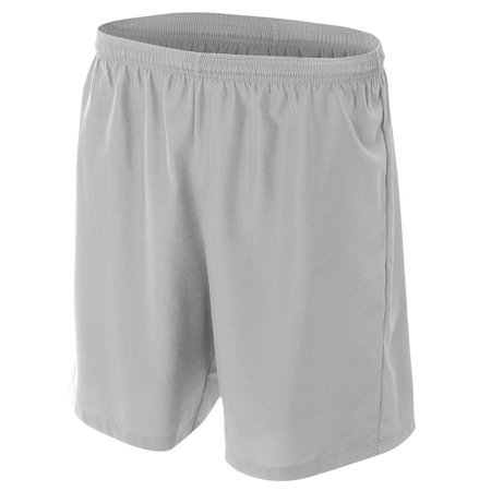 A4 Apparel NB5343 Big Boys Lightweight Woven Soccer Shorts - Silver - Large](Silver Sequin Shorts)