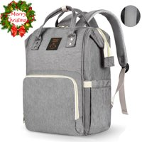 Diaper Bag Backpack,Gimars Multifunctional Travel Back Pack Maternity Baby Nappy Changing Bags,Large Capacity,Waterproof and Stylish,Gray
