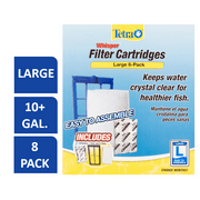 Tetra Whisper Replacement Carbon Aquarium Filter Cartridges, Lg 8ct