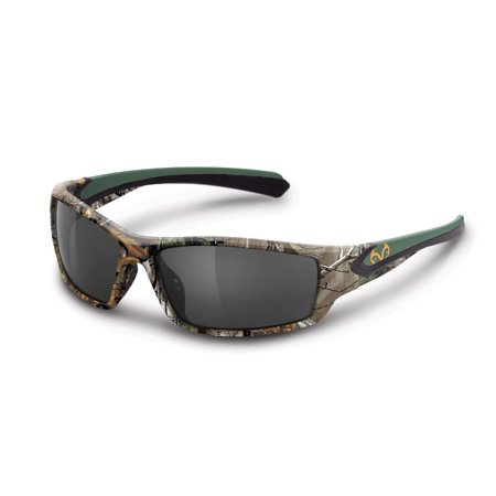 Realtree Xtra Rideline Polarized Sunglasses Hunting Camo REW2091 (Green/Smoke) - Palm Tree Sunglasses