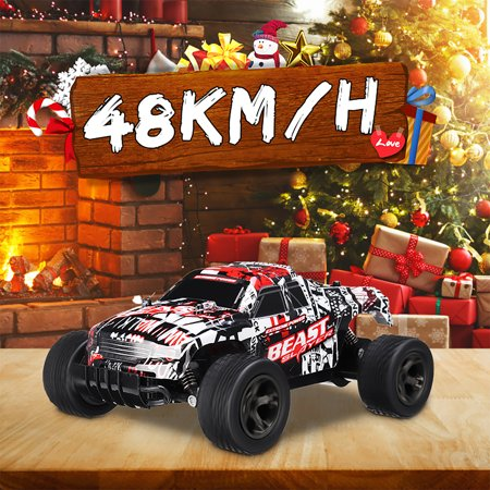 2.4GHz 1:20 Remote Control Car High Speed RC Electric Monster Truck OffRoad Vehicle For Children Kids Boys Christmas Gift (with Car