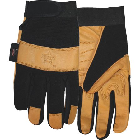 Midwest Quality Glove Large Lethr Palm Pbr Glove PB116-L