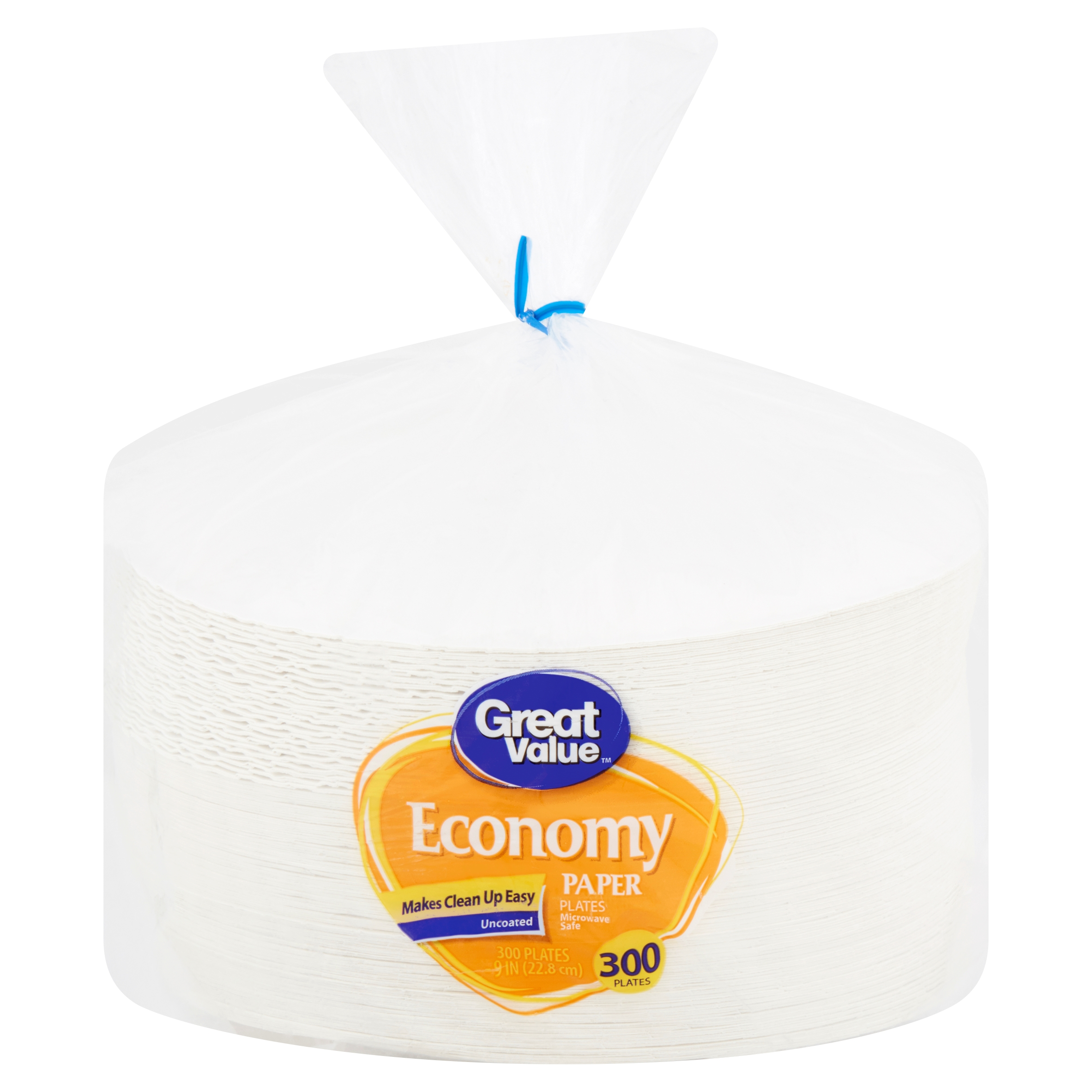 """Great Value Economy Paper Plates, 9"""", 300 Count"""