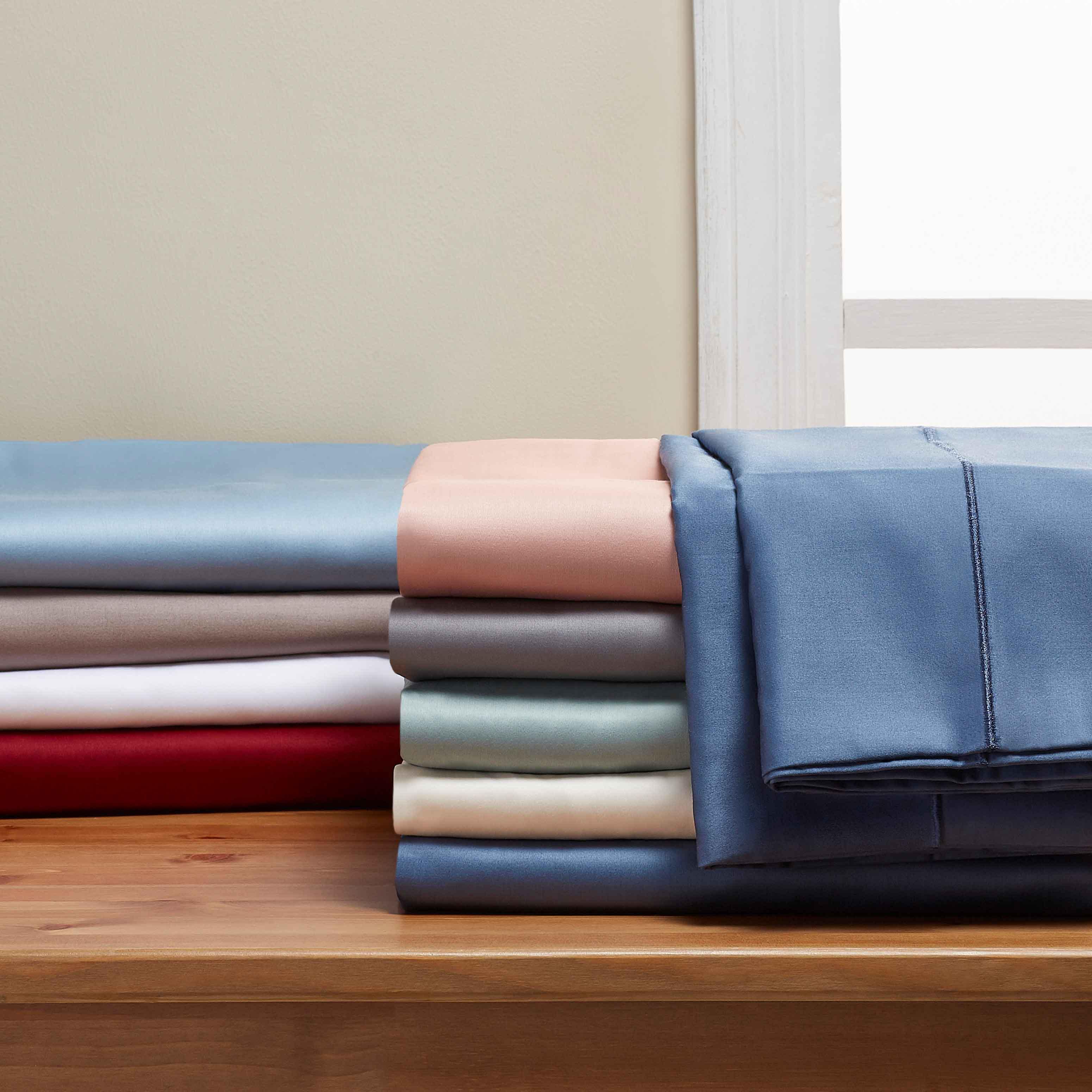Better Homes /& Gardens 400 Thread Count Solid Pillowcase Set Standard Rose Wine