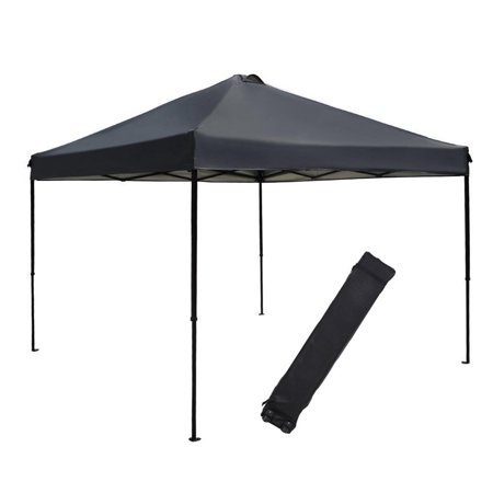 Abba Patio 10 x 10-Ft Outdoor Portable Pop Up Canopy with Roller Bag, Folds Instantly, Dark Grey ()